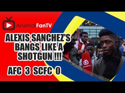 Alexis Sanchez's Bangs Like A Shotgun !!! - Arsenal 3 Stoke City 0