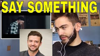 Download Lagu Justin Timberlake - Say Something (Official Video) ft. Chris Stapleton (REACTION) Gratis STAFABAND