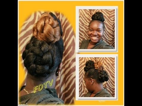 FAUX HAWK *BRAIDED BUN MOHAWK  (Tutorial)1B/30
