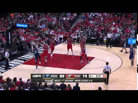 NBA, playoff 2015, Trail Blazers vs. Grizzlies, Round 1, Game 3, Move 44, Marc Gasol, airBall