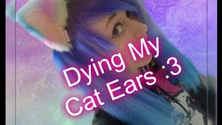 🐾 Dying My Cat Ears 🐾