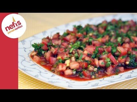 Acılı Ezme Salata | Nefis Yemek Tarifleri