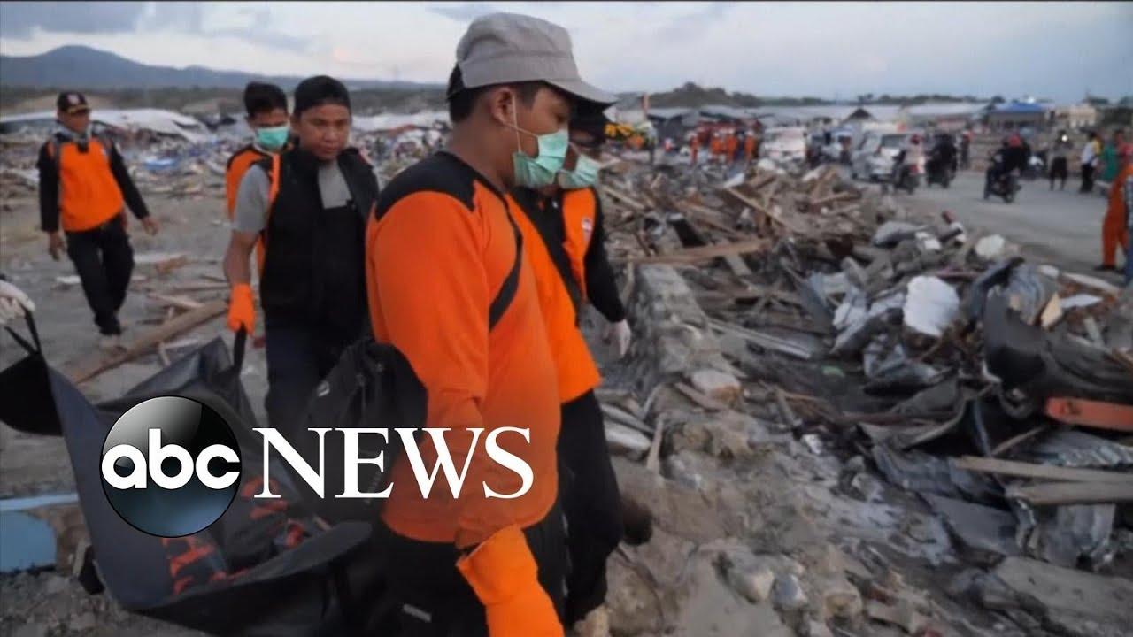Desperate search on for Indonesia tsunami survivors