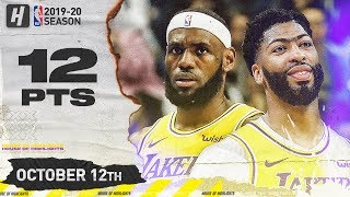 LeBron James & Anthony Davis Full Highlights vs Nets (2019.10.12) - 12 Pts Combined in 1st Qtr!