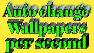 || how to auto change wallpaper || wallpaper mobile screen