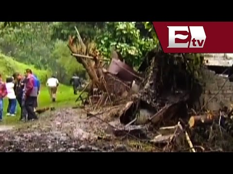 Intensas lluvias afectan 50 viviendas en Ixtapaluca; deja deslave un herido en Álvaro Obregón