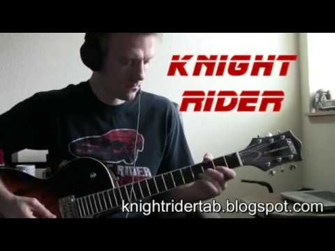 Knight Rider Tv Theme Famous Riffs Expert Guitar Instructions Song Tablature