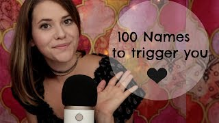ASMR Sanfte Namensnennung ♡ 100 Names to trigger you ♡ German/Deutsch