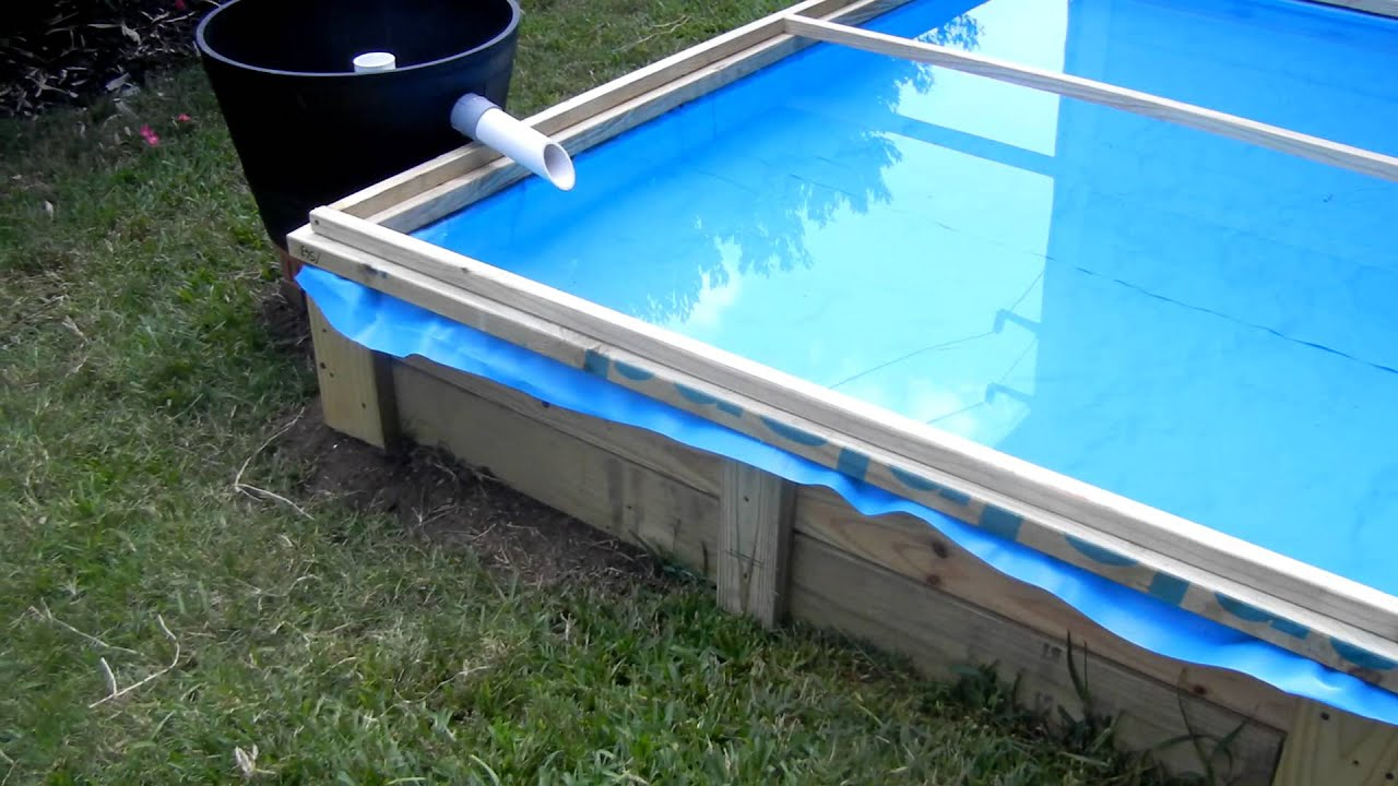 Blue liner pond mov youtube for Blue koi pond liner