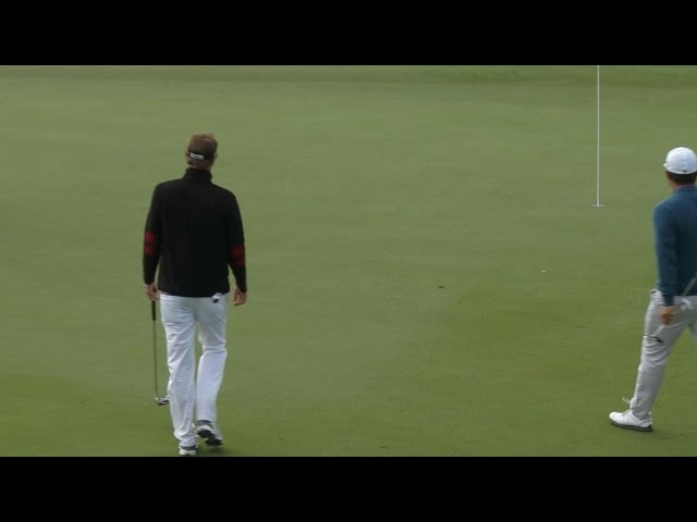 Brett Stegmaier drops in lengthy putt for birdie at The RSM Classic