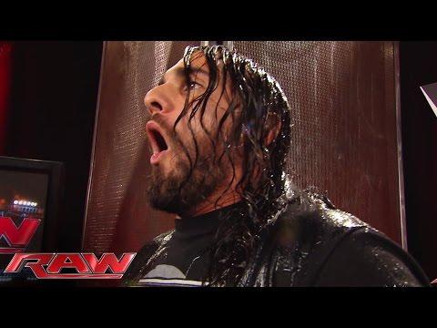 Dean Ambrose empties an ice bucket on Seth Rollins' head: Raw, Aug. 18, 2014