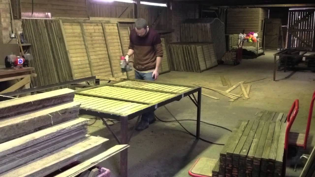 Time Lapse Of Making Fence Panels Youtube
