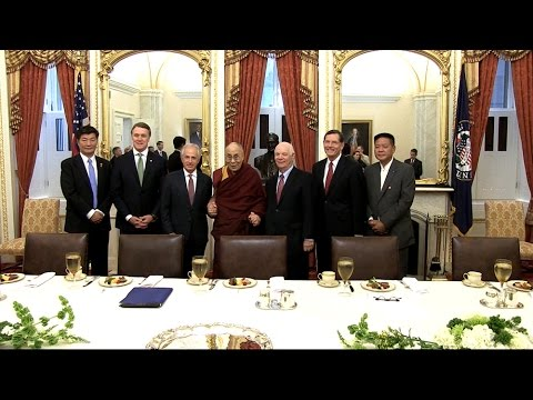 His Holiness The Dalai Lama meets Senate Foreign Relations Committee members