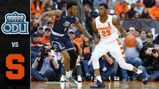 Old Dominion Vs Syracuse Basketball Highlights 2018 19