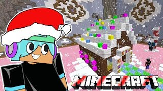 MY DELICIOUS GINGERBREAD CANDY HOUSE / PRO BUILD BATTLE IN MINECRAFT