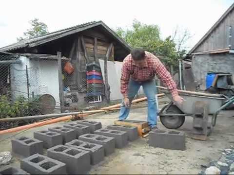 Изготовления шлакоблока в домашних условиях
