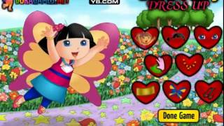 Dora is a very Pretty Butter Fly Girl dress up game Called Dora La Exploradora en Espagnol ♛♛۩۞۩❤♚