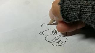 Pencil playing Mario theme while drawing a Mario cartoon!