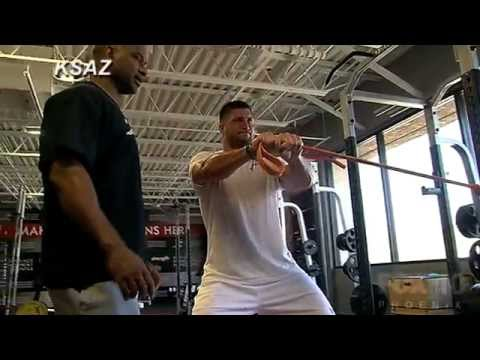 Tim Tebow's intense Scottsdale training session