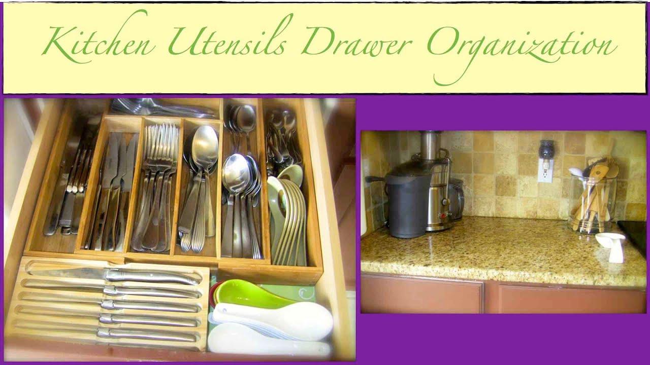 An Organized Home Kitchen Utensils Drawer Organization