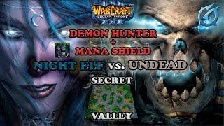 Grubby | Warcraft 3 The Frozen Throne | NE vs. UD - Demon Hunter Mana Shield - Secret Valley