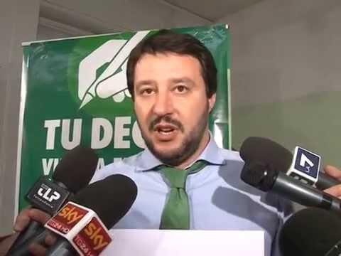 CONFERENZA STAMPA MILANO 31032014 - INTERVISTA MATTEO SALVINI