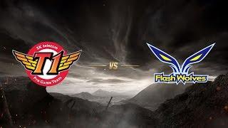 SK telecom T1 ( SKT ) vs Flash Wolves ( FW ) | MSI 2017 Grup Aşaması 3. Gün