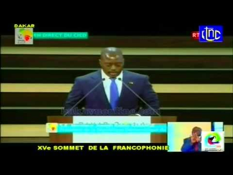 Discours du President Joseph Kabila a Dakar, Sommet de la Francophonie