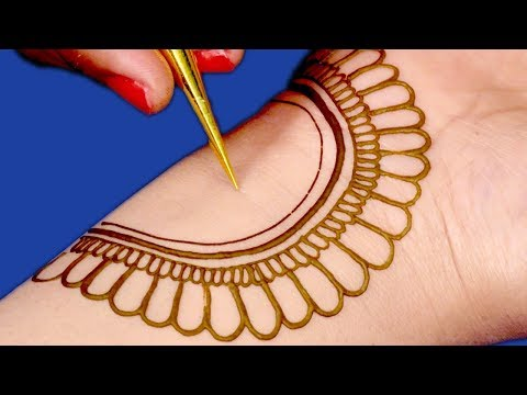 Mehndi Design for Beginners | Easy Mehndi Design For Hands by Sonia Goyal #045