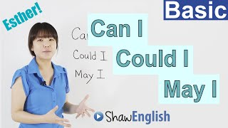 How to ask someone for permission, Can I, Could I, May I, Basic English Lessons 8