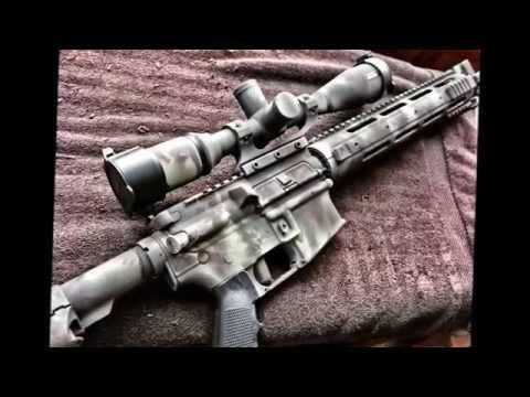 Ar 15 rattle can spray paint job with rustoleum using camo colors