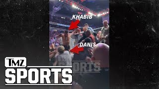 New Angle of Khabib Attacking Conor McGregor's Trainer at UFC 229 | TMZ Sports