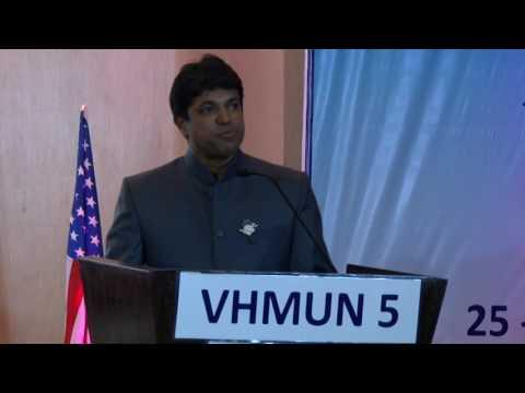 Mr. Rustom Kerawala at VIBGYOR High Model United Nations 2015 - Opening Ceremony