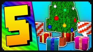 Minecraft: 5 Christmas Decorations For Your Home | Presents, Christmas Tree, Snow Generator, & More!