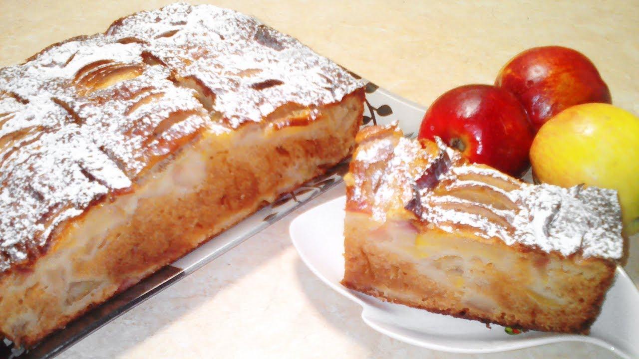Пирог шарлотка с яблоками рецепт пошагово с