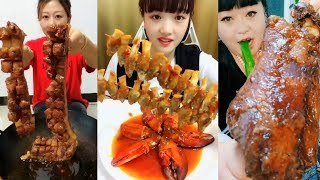 EATING SHOW COMPILATION - CHINESE FOOD - #ASMR - COMIDAS CHINESAS ESTRANHAS E EXÓTICAS #34