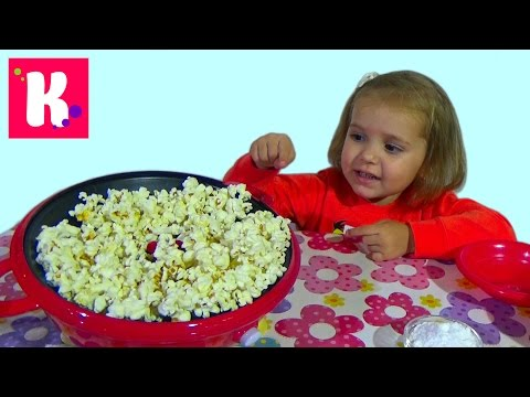 Готовим попкорн сами жарим кукурузу на аппарате Cooking pop-corn on popcorn maker roast corn
