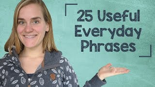 German Lesson (82) - 25 Useful Everyday Phrases - A2