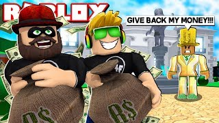 ROB MILLIONS OF ROBUX FROM A RICH DUDE in ROBLOX