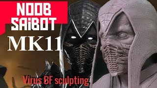 Noob Saibot из пластилина Monster Clay / Mortal Kombat 11 sculpting / Noob-Saibot без маски