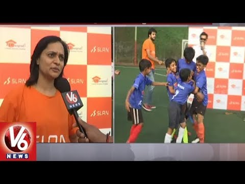 Slan Academy Conducts Football League Matches In Hyderabad | V6 News