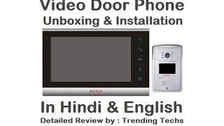 CP Plus Video Door Phone Unboxing & Installation