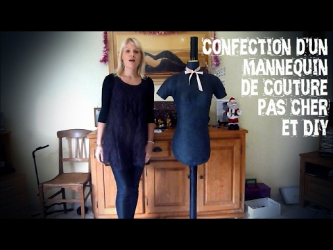 tuto confection d 39 un mannequin de couture youtube. Black Bedroom Furniture Sets. Home Design Ideas