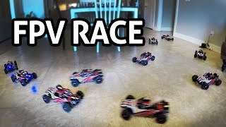 RACING RC CARS in the HOUSE!! Eachine RatingKing 4WD Off Road Buggy REVIEW