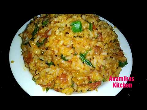 Tomato Rice Recipe-Tomato Rice south Indian Style-Tomato Pulav-Tomato Pulao-Lunch Box Recipe
