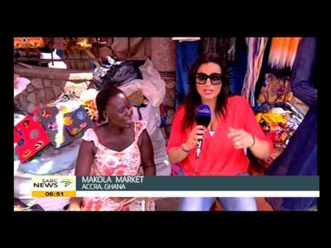 Leanne Manas visited Makola Market in Ghana