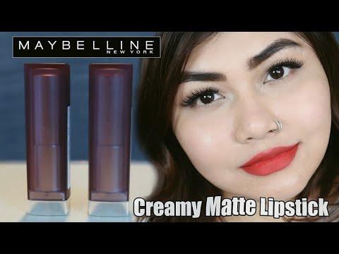 MAYBELLINE CREAMY MATTE LIPSTICK REVIEW