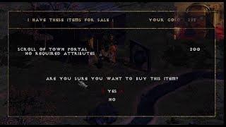 Diablo 1 - Walkthrough - Level 1 - Teleport Spell Obtained