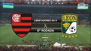 Gols - Flamengo 2 x 3 León (MEX) - Libertadores 2014 - 09/04/2014