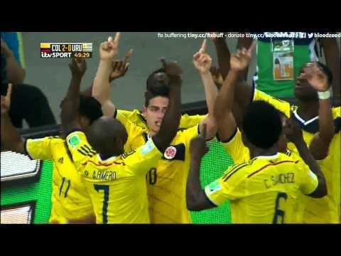 Colombia 2 Uruguay 0 James Rodriguez Jorge Eliecer Torres